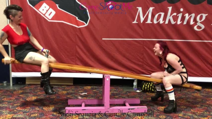 [Full HD] camille campbell 2 girls riding the see saw at exxxotica - Camille Campbell - ManyVids | B...