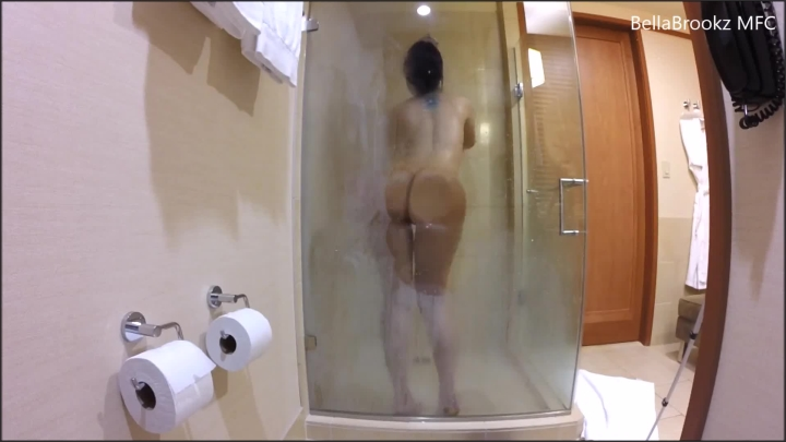[Full HD] bellabrookz shower glass door in private premium video - BellaBrookz - Amateur | Size - 99,4 MB