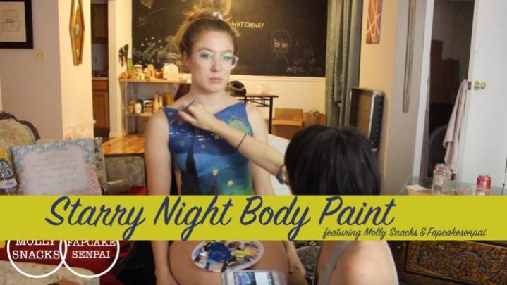 "[Full HD Video] ""Fapcake Senpai"" fapcake senpai starry night paint show molly amp fapcake / (ManyVids) | Nerdy Girls, Fetish Art - 553,9 MB"