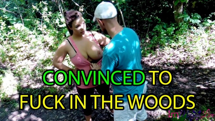 [SD] immeganlive convinced to fuck in the woods - ImMeganLive - Amateur | Face Fucking, Public Blowjob - 1,7 GB
