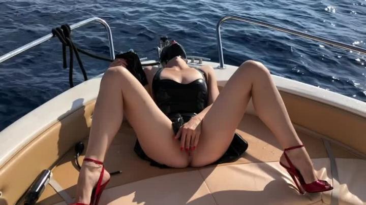 1 $ Tariff [HD] bupshi latex amp dildo pants on the sea - Bupshi - Amateur | Masturbation Games, Dildos, Outdoors - 263,9 MB