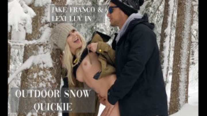 Lexi Luv Outdoor Snow Quickie