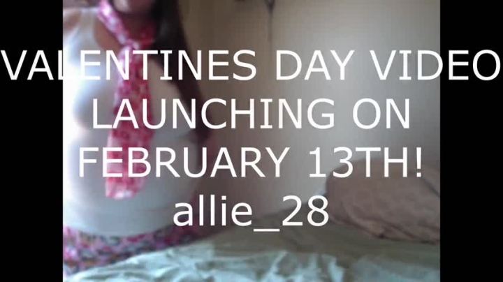[Full HD] allie 28 valentines day tease video - Allie 28 - Amateur | Big Boobs, Nipple Play - 22,9 MB