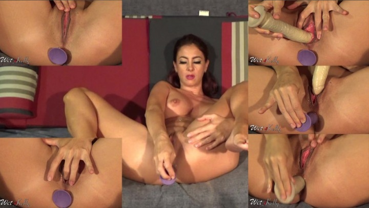 [HD] wet kelly close up dp with dildos - Wet Kelly - Amateur | Dildo Fucking, Close-ups - 270,7 MB