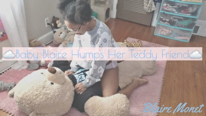 [4K Ultra HD] blaire monet baby blaire humps her teddy friend - Blaire Monet - Amateur | Age Regression, Diaper - 1,4 GB