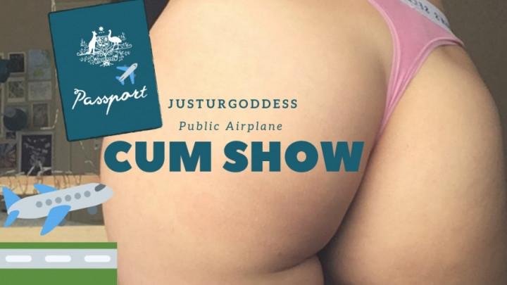 [HD] justurgoddess public fun on an airplane - justurgoddess - Amateur | Titty Squeezing, Public Toilet - 268,9 MB