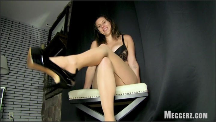 1 $ Tariff [HD] meggerz stroking heel dangle - meggerz - Amateur | High Heels, Jerk Off Instruction - 540,5 MB