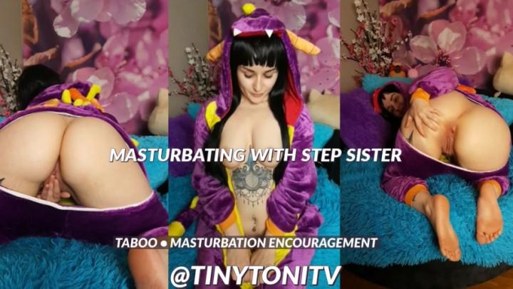 [SD] tinytonitv masturbating with step sister - TinyToniTV - Amateur | Sisters, Masturbation Encouragement - 2,5 GB