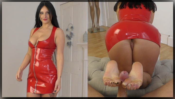 [Full HD] cassieclarke red latex barefoot footjob - CassieClarke - Amateur | Foot Fetish, Feet, Footjobs - 674,7 MB