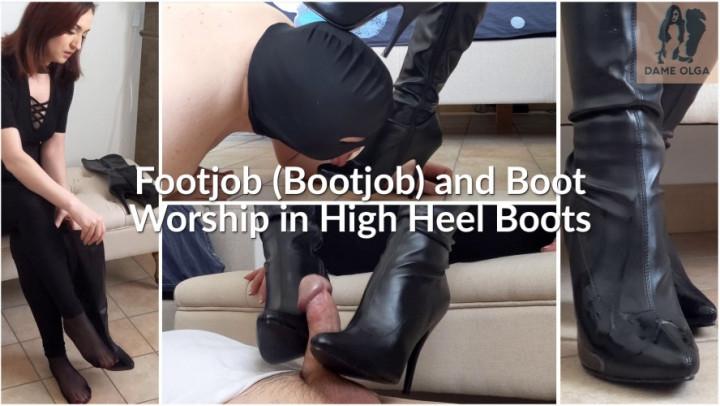 [Full HD] dame olga footjob bootjob and boot worship - Dame Olga - Amateur | Shoe & Boot Worship, Boot Licking - 1,9 GB