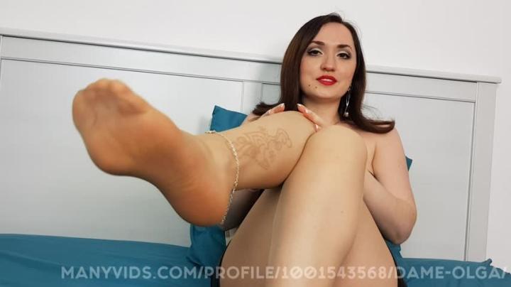 [Full HD] dame olga nylon footjob and cum on tights - Dame Olga - Amateur | Cuckolding, Tights Fetish - 1,9 GB