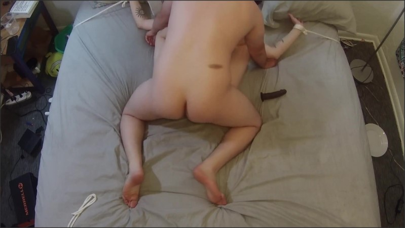[Full HD] tied to bed spread eagle slut quivers as she cums   - AliceWeaver - -00:06:43 | Bdsm, Orgasm, Used - 130,5 MB