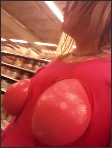[SD] tits painted pink walking around a store   - Carlie Cocks - -00:16:30 | Mom Tits, Best Public Flashing - 82,2 MB