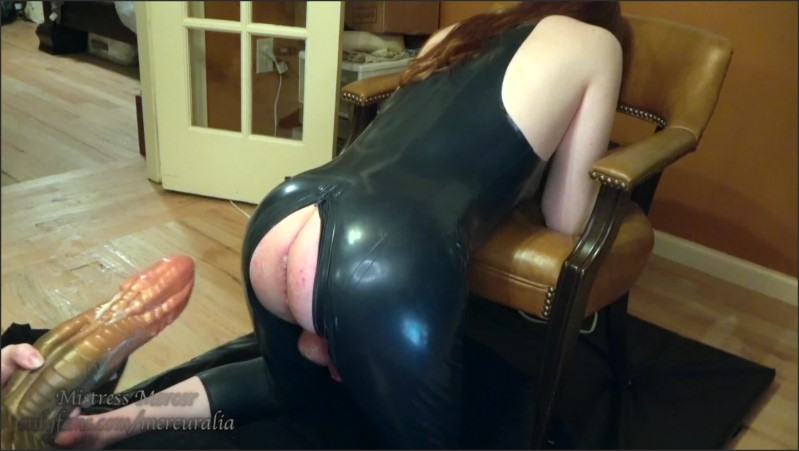 [Full HD] bad dragon fisting gaping anal destruction for latex catsuit sissy slut squirts   - Mistress Mercer - -00:08:02 | Sissy Training, Pissing, Latex Gloves - 193,5 MB