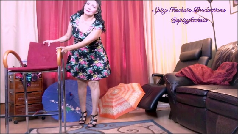 [Full HD] bbw flowered dress and panty try ons  - Spicy Fuchsia - -00:08:04   Bbw Milf, Indian - 166,8 MB