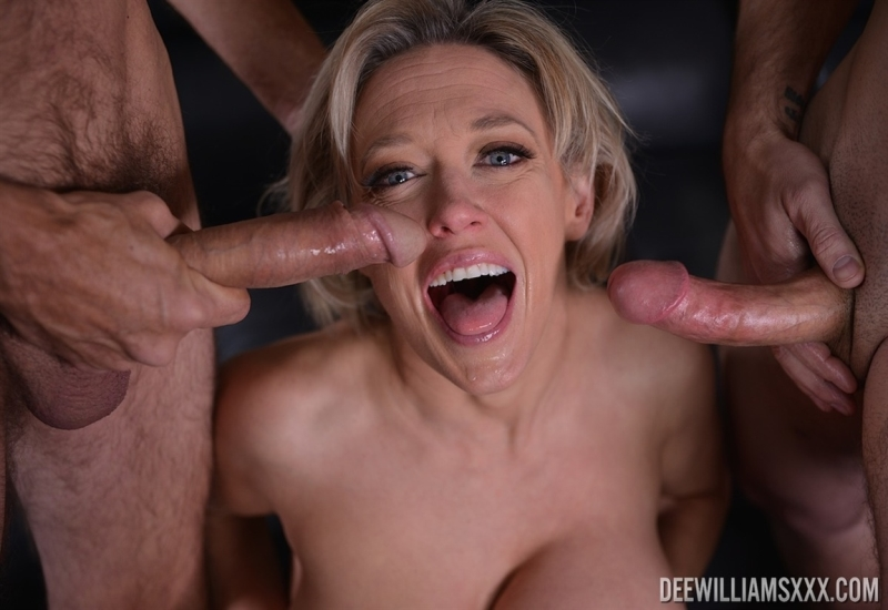[4K Ultra HD] Dee Williams - In Double Cock Gag Fest - Mix - SiteRip-00:09:50 | Hardcore, Milf, Gagging - 726,2 MB