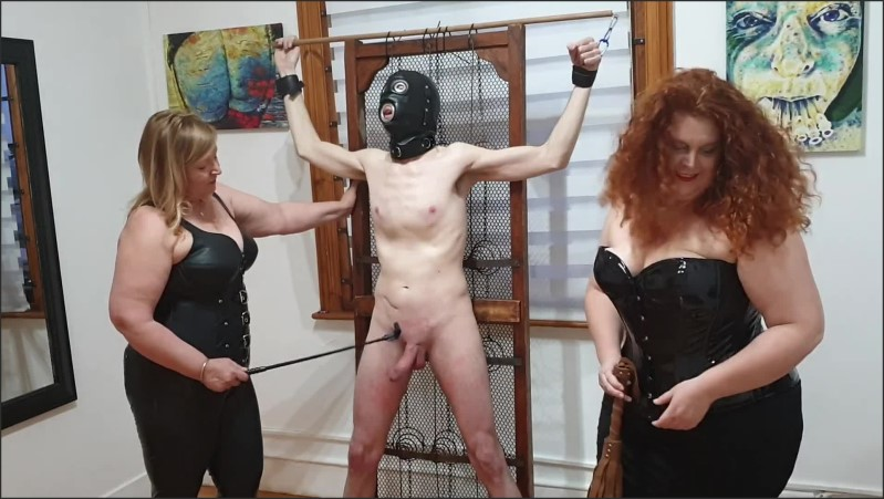 [Full HD] dominatrix duo beats slave s cock with floggers riding crops and canes   - Surrender Studio - -00:15:20   Amateur, Bondage - 332,8 MB