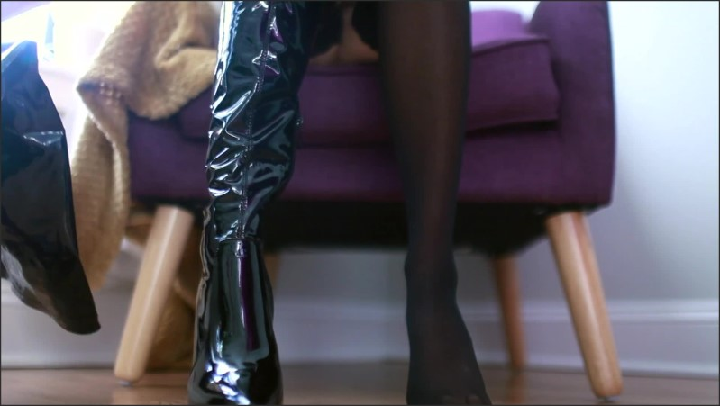 [Full HD] ignored at my feet   - Jade Lussuria - -00:15:14 | Foot Slave, Feet, Thigh High Boots - 263,1 MB