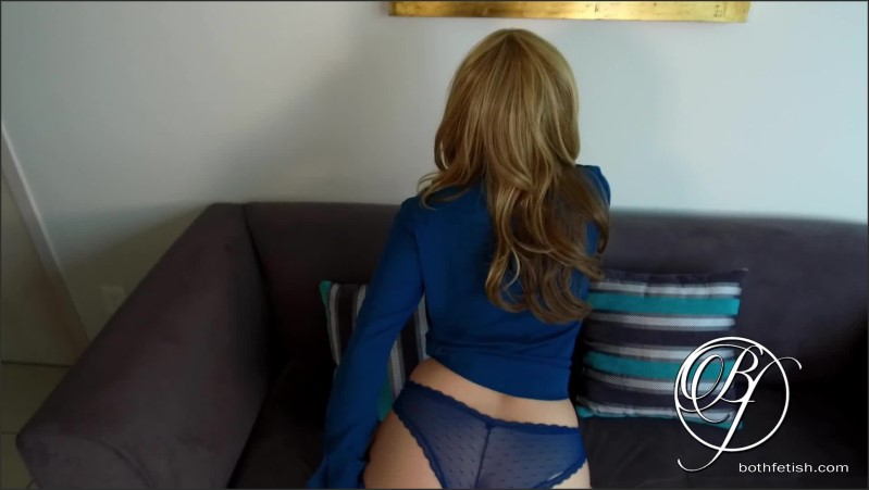 [Full HD] milf boss in blue lingerie fishnets high heels wants hard cock   - bothfetish - -00:07:37 | Milf, Babe - 164 MB