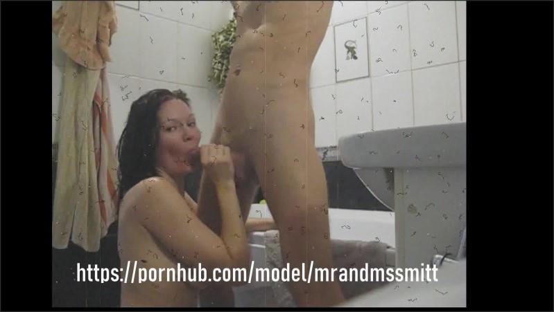 [Full HD] morning in the bathroom   - mrandmsSmitt - -00:14:20 | Brunette Milf, Creampie, Oral - 442,3 MB