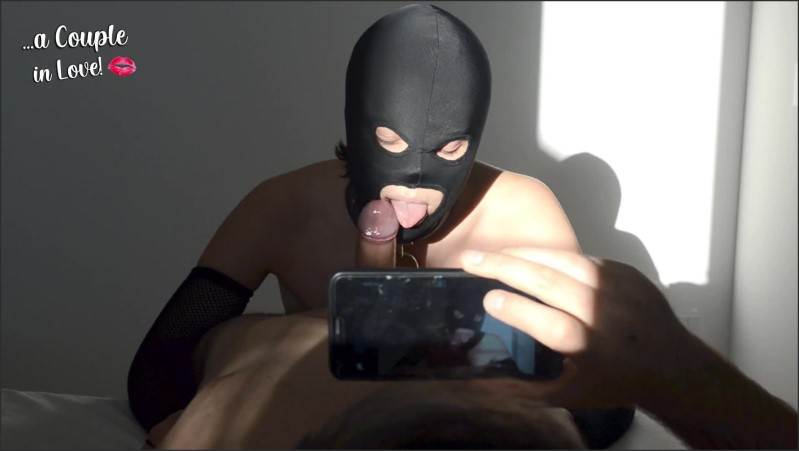 [Full HD] part 1 submissive amateur collared wife sucks hubby s cock wearing a black mask blowjob a c i l  - A Couple in Love - -00:08:43 | Collared Slave, Cumshot, Masked Blowjob - 169,7 MB